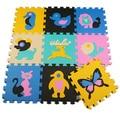 Bebê tapetes de EVA Animais piso pad almofadas de espuma rastejando mat crianças brincam esteiras Crianças jigsaw puzzle