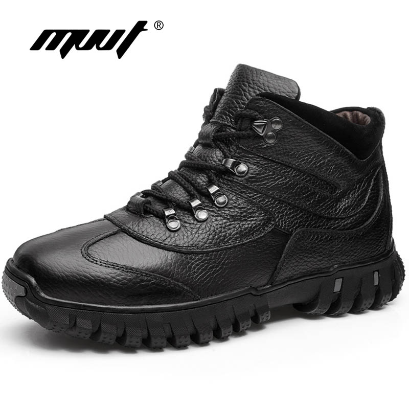 MVVT Brand Super Warm Men boots Winter Leather Men Waterproof Rubber Snow Boots Leisure Boots England Retro Shoes For Men стоимость
