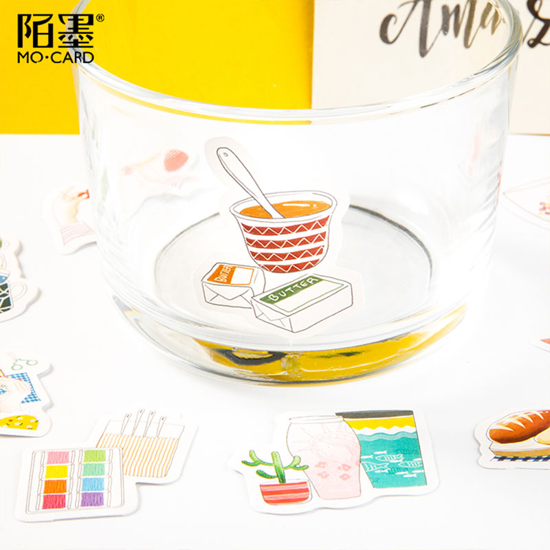 46 Pcs box My hand account paper sticker DIY decoration stickers diary photo album scrapbooking planner label stickers in Stickers from Home Garden