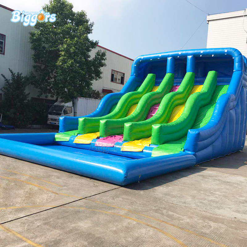 Inflatable Slide Commercial: Commercial Grade Durable Inflatable Water Slide Pool