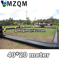 High Quality Inflatable Football Pitch Game Portable Inflatable Soccer Football Field For Children's Inflatable soccer Field