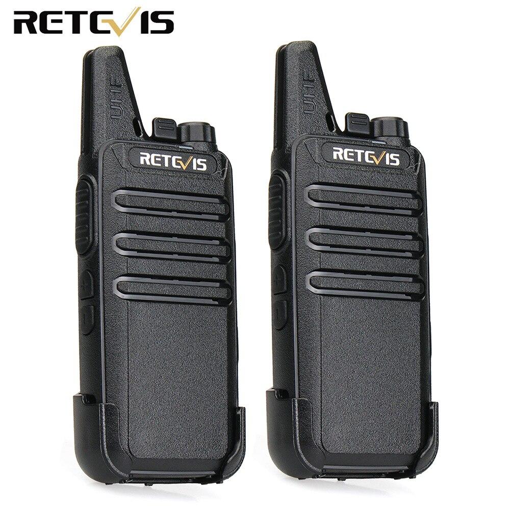 2 pcs Mini Walkie Talkie Retevis RT22 2 W UHF VOX USB Charger Stazione Radio A Due Vie Ham Radio Ultra -sottile Walkie-talkie A Portata di mano