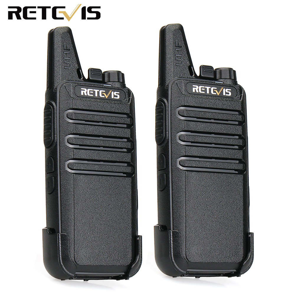 2 stks Mini Walkie Talkie Retevis RT22 2 W UHF 400-480 MHz 16CH CTCSS - Walkie-talkies