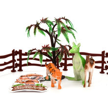 Dinosaur figurines model skeleton Adventure Planet Dinosaur Set With Suitcase Pretend Play Toy NON TOXIC For Kids D300116(China)