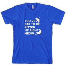 Youve Cat To Be Kitten Me Right Meow - Mens T-Shirt 10 Colours Funny Pet Print T Shirt  free shipping