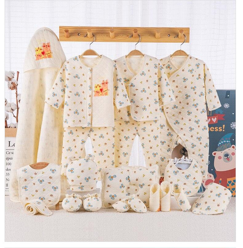 19 pièces/ensemble nouveau-né bébé vêtements cadeau ensemble sous-vêtements costumes 100% épais chaud infantile vêtements ensemble 2019 nouveauté mode Style