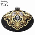 Brand Women Hot Fixed Crystal Stone Embroidery Black Satin Evening Clutches Bag Ladies Wedding Party Dinner Handbag Clutch Purse
