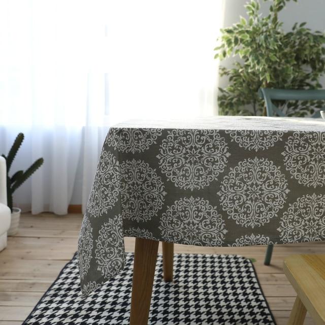 Ordinaire Grey Cotton Linen Tablecloth Chinese Style Rectangular Table Cover Mantel  Toalha De Mesa Nappe Hot Sale