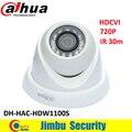 Оригинал Dahua HDCVI 720 P 1 Mega Pixel Коаксиальный Мини Купольная Камера DH-HAC-HDW1100S IR30m IP67 CCTV Камеры Безопасности HDW1100S