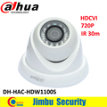 Original Dahua HDCVI 720P 1Mega Pixel Coaxial Mini Dome Camera DH-HAC-HDW1100S IR30m IP67 Security CCTV Camera HDW1100S