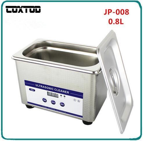 COXTOD JP-008 Digital Limpeza Ultra-sônica Transdutor Cestas Jóias Relógios Dental PCB CD 0.8L Mini Ultrasonic Cleaner Bath