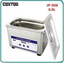 Coxtod JP-008 цифровой ультразвуковой Тематические товары про рептилий и земноводных датчиков корзины Jewelry Часы зубные pcb CD 0.8l мини ультразвуковой очистки Для ванной