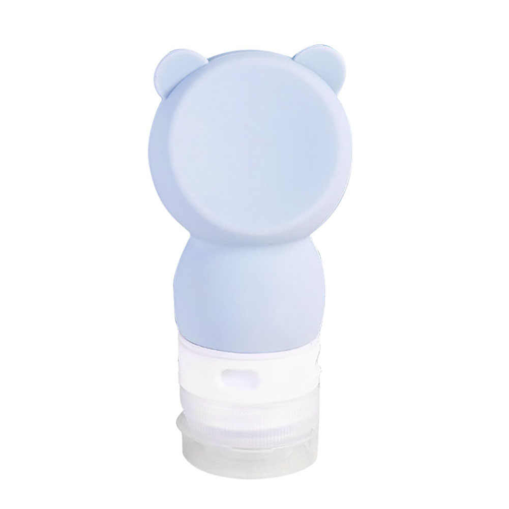 40 # Multifungsi 60 Ml Panda Lucu DESAIN Perjalanan Silikon Sampo Shower Gel Lotion Botol Kosong Acak Warna