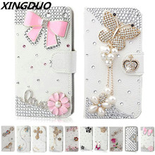XINGDUO Handmade Bling Diamond Rhinestone PU Leather Filp Cover Wallet Case For Samsung S10 S9 S6 S7 S7edge S8 plus Note 8 9 5