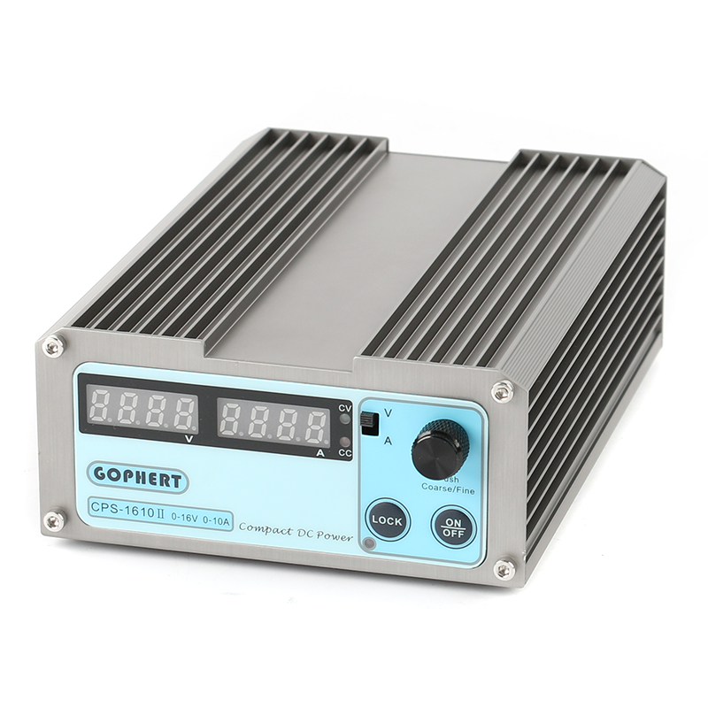 GOPHERT Precision Compact Digital Adjustable Switch DC Power Supply OVP/OCP/OTP Low Power 16V 10A 110V-230V 0.01V/0.01A EU цена