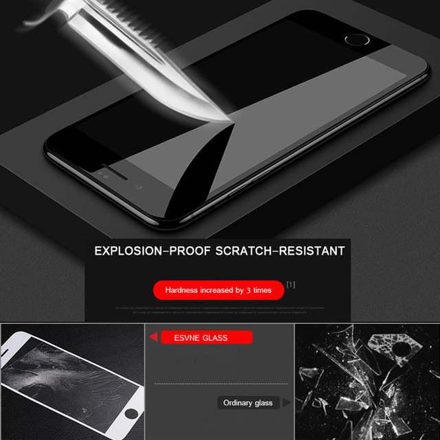 5D Full Cover Protection Tempered Glass For iPhone 6 glass iPhone 7 glass 6s 8 Plus X XR XS 11 12 Pro MAX Screen Protector HD 4