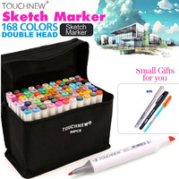 TOUCH NEW 80 Colors Professional Art Marker Set Alcohol Based Copic Sketch Marker Pen For Drawing