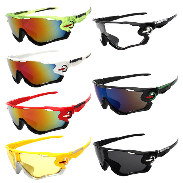 e8412c7242b UV Protection Outdoor Cycling Sunglasses Jaw Breakers Sport Fishing MTB  Bicycle Hiking Cycling Glasses Windproof Cycling Eyewear