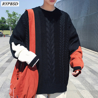 Solid Color Knitted Sweater Men Pulover Wool Christmas Sweater Men Knitwear Male Sweater Pullover Men Clothes 2019 Winter