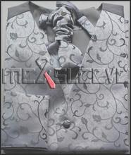 hot sale free shipping fashion cotton&polyester  wedding waistcoat (vest+ascot tie+cufflinks+handkerchief)