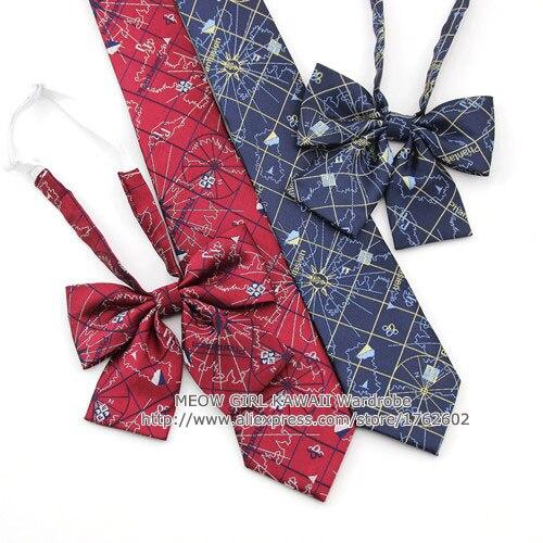 Die Karte In Herz Mädchen Frauen Japanischen Uniform Jk Krawatte Bowknot Lolita Krawatte Adrette Cosplay Attraktiv Und Langlebig