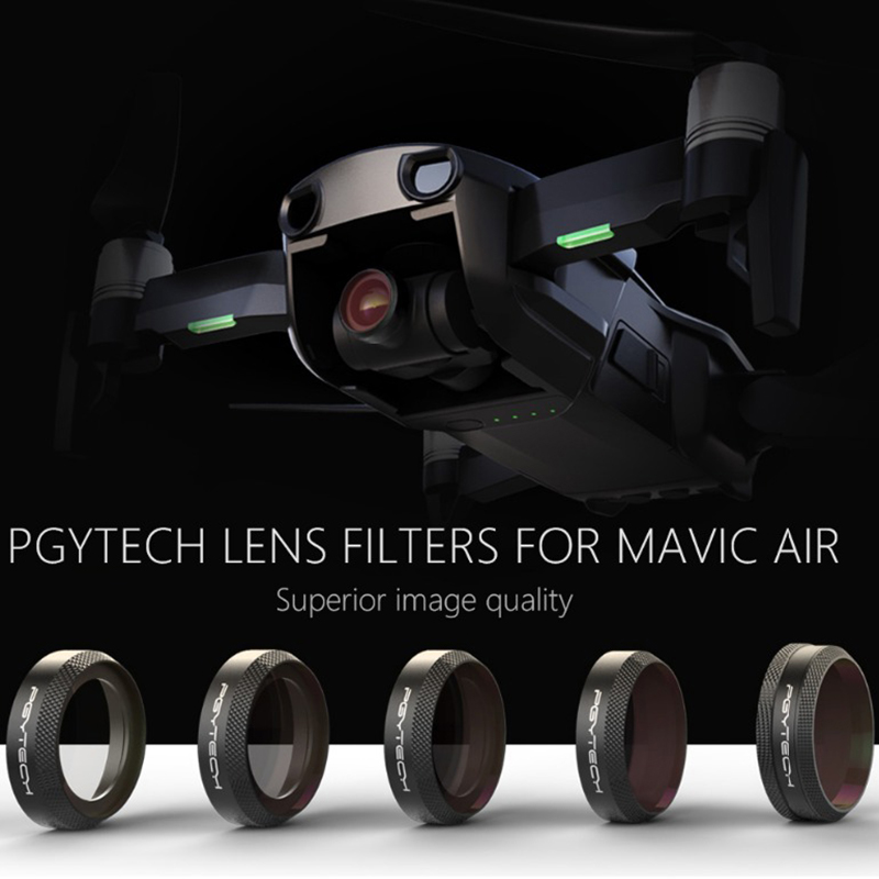 In Stock PGYTECH NEW Filter For DJI MAVIC Air Lens Filters UV CPL ND4 ND8 ND16 ND32 Filter kit MAVIC Air Drone Camera Accessory original dji mavic air nd filters set nd4 8 16 for mavic air camera drone filter 3pcs filter dji mavic air accessories