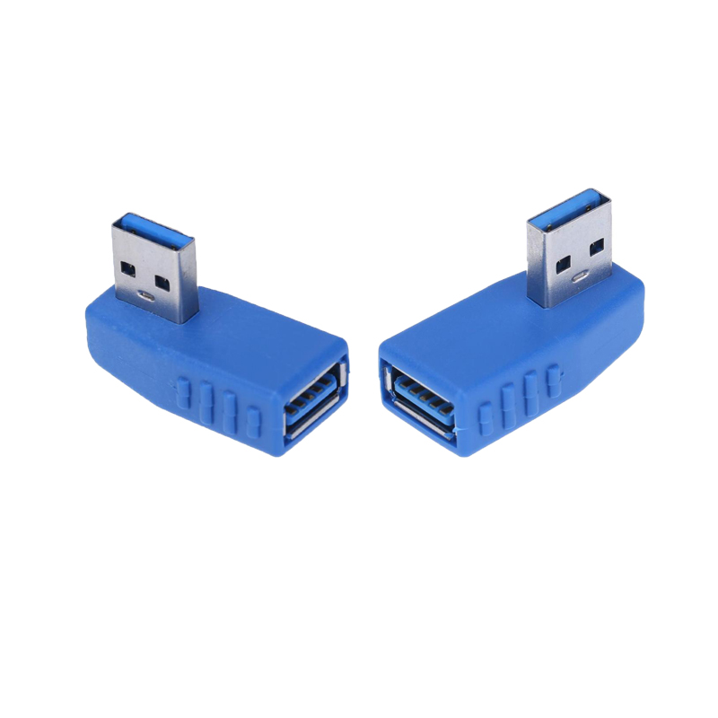 ALLOYSEED Usb 3.0 Connector Right + Left Angle 90 Degree Converter USB 3.0 Type A Male To Female Plug Adapter Converter Adaptor