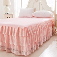 1 Piece Lace Bed Skirt bedding set Sweet Princess Bedding Bedspreads sheet Bed For Girl bed Cover King/Queen/Twin size
