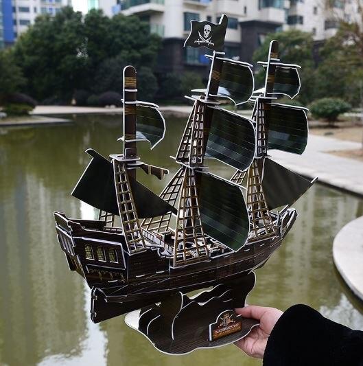3D трехмерная головоломка, Карибский пиратский корабль, Черная жемчужина, номер в сборе, Детская развивающая игрушка-головоломка