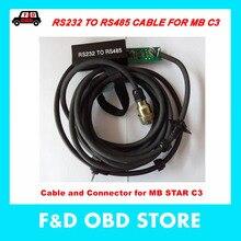 C3 автомобильный OBD2 кабель и разъем RS232 к RS485 кабель для MB STAR C3 для мультиплексора автомобиля диагностические инструменты кабель с печатной платой