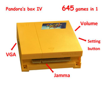 цена на 2016 Newest multi arcade pcb Pandora's Box 4 /645 in 1 multi game Board,28pin jamma connector for arcade CRT or LCD cabinet