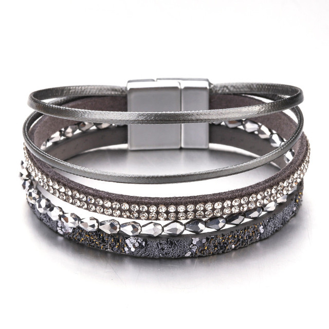 Amorcome Multilayer Leather...