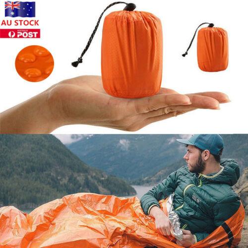 Outdoor Portable Emergency Sleeping Survival Bag Thermal Blanket Camping Tool