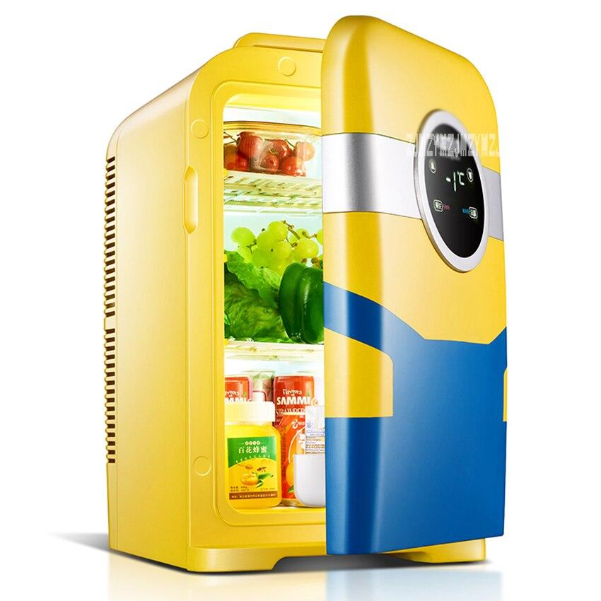 KM-22L 22L Dual-Core Car Mini Refrigerator Mini Fridge Refrigeration Heating For Household And Car Use Portable Freezer 12V 220V