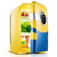 KM 22L 22L Dual Core Car Mini Refrigerator Mini Fridge Refrigeration Heating For Household And Car Use Portable Freezer 12V 220V