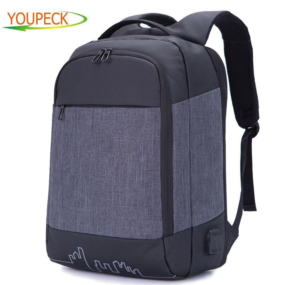 Youpeck 15.6 inch Laptop Bag Men Backpacks Anti Theft Backpack Women Bag  USB Charging School Mochila Waterproof Travel Back Pack 467402d982b5c