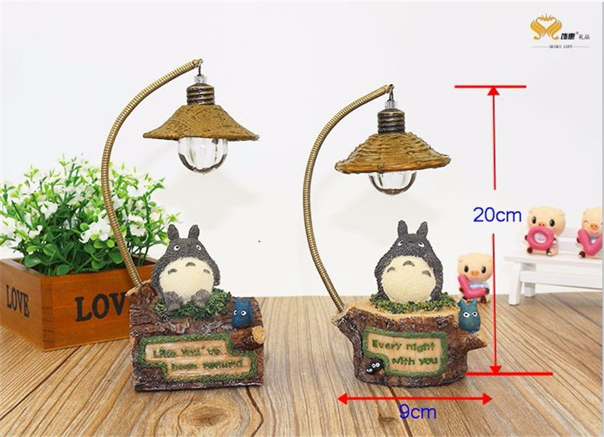 Cute Totoro LED Table Lamp Romantic Night Light Home Table Desktop Decoration Lamp Creative Crafts Students Children Kids Gifts