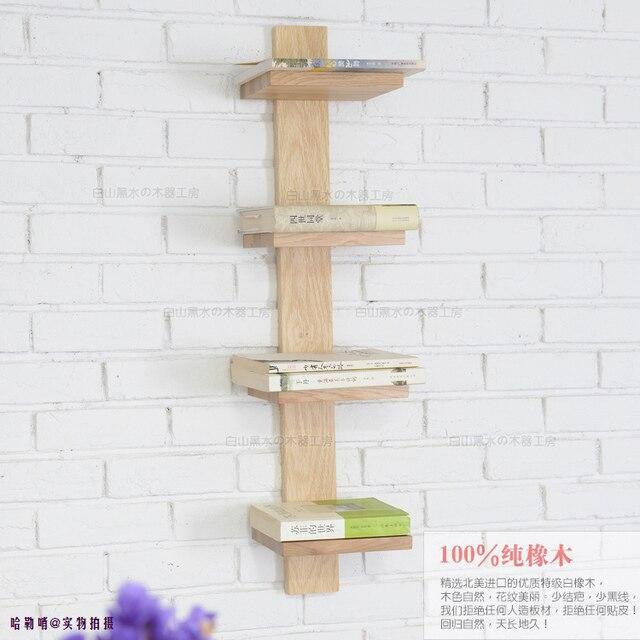 eiken wandplank wandplank hout boekenkast boekenkast plank wand ...