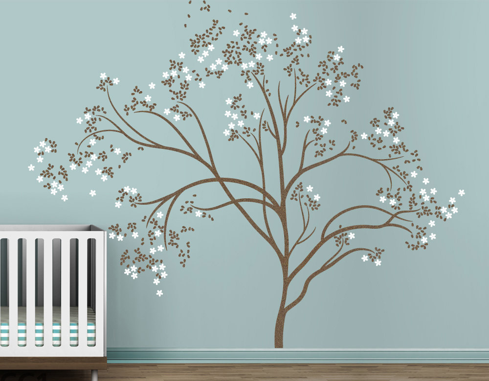 Blossom Tree Extra Large Wall Decal Japanese Cherry Blossom Tree Decal For  Kids Baby Nursery Rooms