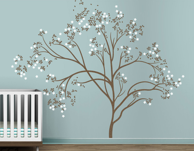 blossom tree extra large wall decal japanese cherry blossom tree