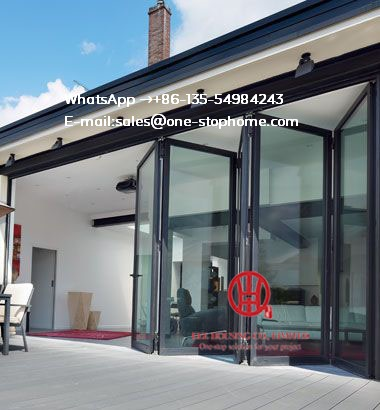 Weather Stripping Glass Interior Folding Doors,Aluminium Bi Transparent Partition Soundproof Insulated Accordion
