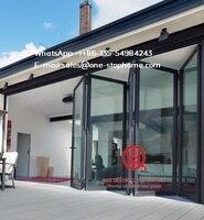 weather stripping glass interior folding doors,Aluminium Bi Transparent Partition Soundproof Insulated Accordion