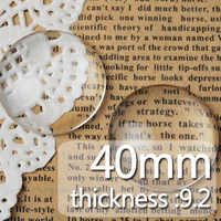 40MM Round Flat Back clear Crystal glass Cabochon,Top quality,glass titel,sold 50pcs/lot-C1177