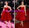 2015 Celebridade do tapete Vermelho Vestidos Vestidos de Cetim Querida Kim Kardashian Vestido Bandage Festa À Noite Custom Made Hot Sale