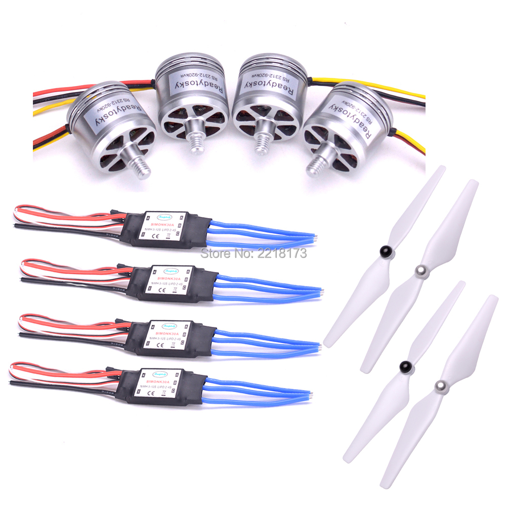RS2312 2312 920KV Brushless Motor CW CCW 2-4S 30A simonk ESC 9450 Self Lock Propeller for F450 S500 Quadcopter Multicopter 2212 920kv brushless motor cw ccw 30a simonk brushless esc for f450 f550 s550 f550 quadcopter frame