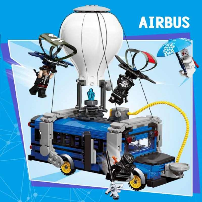 IN stock Fortress Night Airbus Model airplane Building blocks fortnighting air plane bricks toys for kids gifts