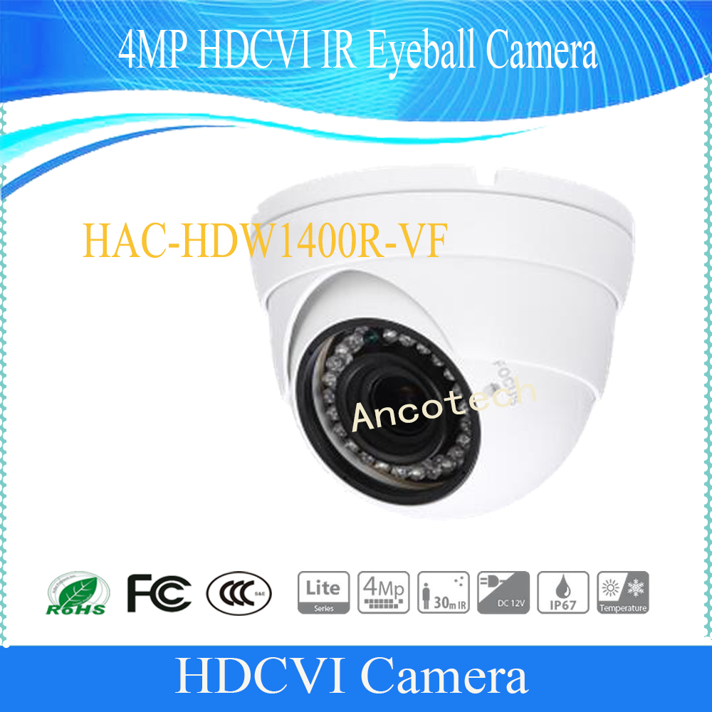 Free Shipping DAHUA CCTV Security Camera 4MP HDCVI IR Eyeball Camera without Logo HAC-HDW1400R-VF free shipping dahua cctv security camera 2mp hdcvi ir eyeball camera ip67 without logo hac hdw1220r vf