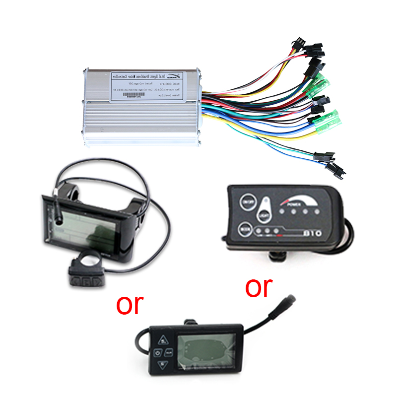 Free shipping 36V 48V Adjustable Ebike Kit bldc Controller and LED LCD LCD900 Display for MTB