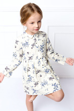 New 2016 Summer Baby Girls Party Dresses Kids Clothes Long sleeve Princess Dress Peter Pan Collar