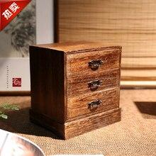 Японском стиле Desktop ящик для хранения отделки древесины новоселье Подарочная коробка дровяной Тонг Многофункциональный Коробка для хранения